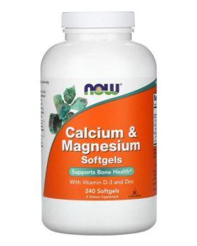 Jetzt Lebensmittel, Kalzium & Magnesium mit Vitamin D-3 und Zink, 240 Kapseln
