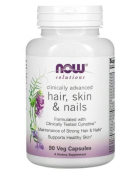Now Foods, Clinically Advanced, Haar, Haut, Nägel, 90 Vegetabilische Kapseln