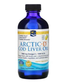 Nordic Naturals, Lebertran Arctic-D, Zitrone, 237 ml