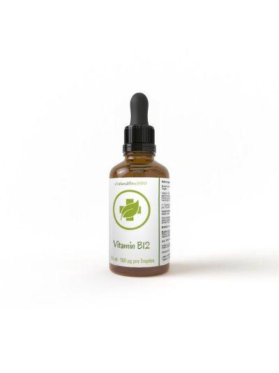 Vitalundfitmit100 Aktives Vitamin B12 flüssig 50 ml mit Pipette