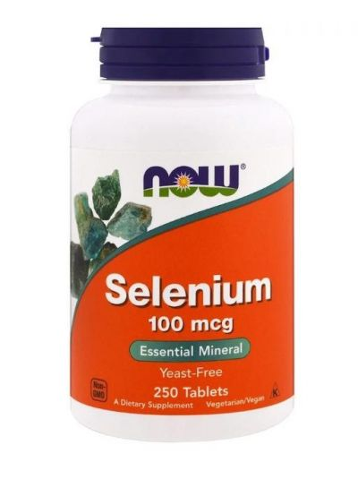 Now Foods Selen ohne Hefe 100 mcg 250 Tabletten