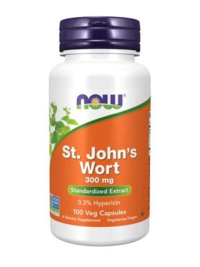 NOW Foods  St. John's Wort (Johanniskraut), 300mg, 100 vegetabilische Kapseln