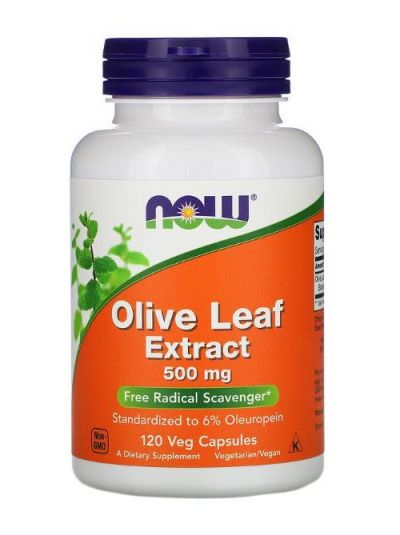 Now Foods Olivenblätterextrakt 500 mg 120 Veg-Kapseln