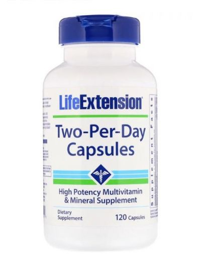 Life Extension Two-Per-Day 120 Kapseln