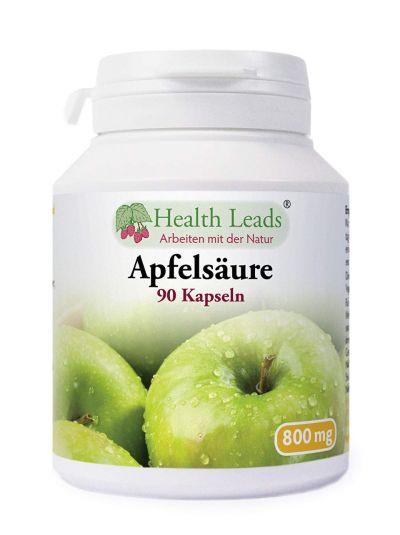 Health Leads Apfel Säure (Malic Säure) 800 mg 90 Kapseln