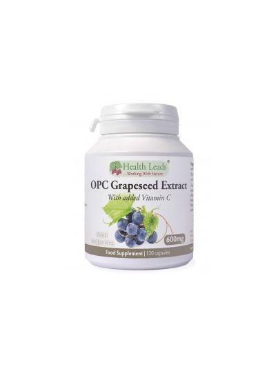 Health Leads OPC Traubenkernextrakt 600mg + Vitamin C x 120 Kapseln