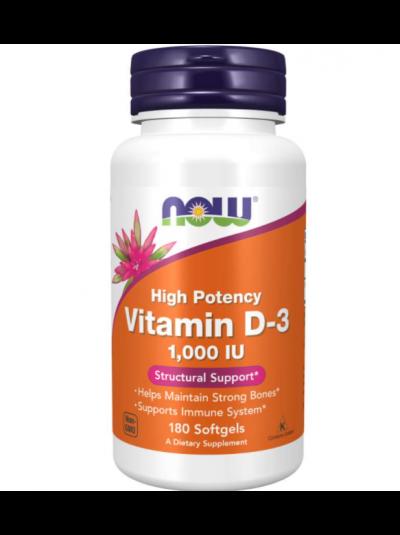 Now Foods Vitamin D-3 Hochwirksam 1000 IU, 180 Softgel Kapseln