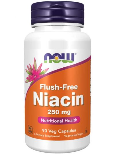Now Foods,Spülfreies Niacin, 250 mg, 90Veg Kapseln