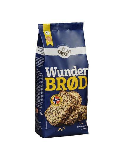 Bauckhof Bio Brot-Backmischung Wunderbrot, Hefe- und glutenfrei 600g