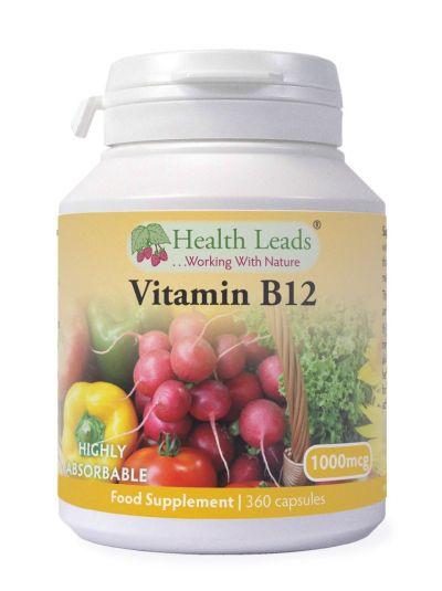 HEALTH LEADS VITAMIN B12 METHYLCOBALAMIN 1000MCG 360 KAPSELN