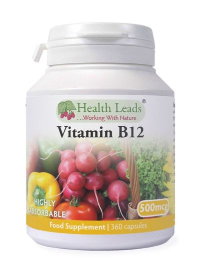 HEALTH LEADS VITAMIN B12 METHYLCOBALAMIN 500MCG 360 VEGETABILISCHE KAPSELN