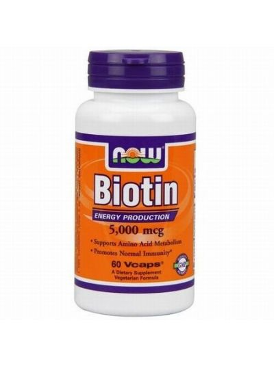 Now Foods Biotin 5000 Mikrogramm 60 vegetarische Kapseln