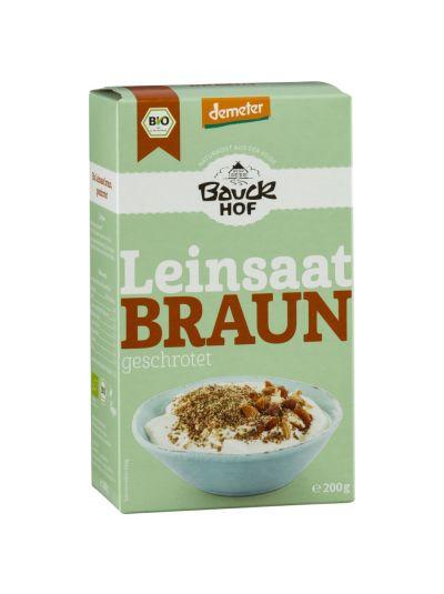 Bauckhof Demeter Leinsaat Braun, geschrotet 200g