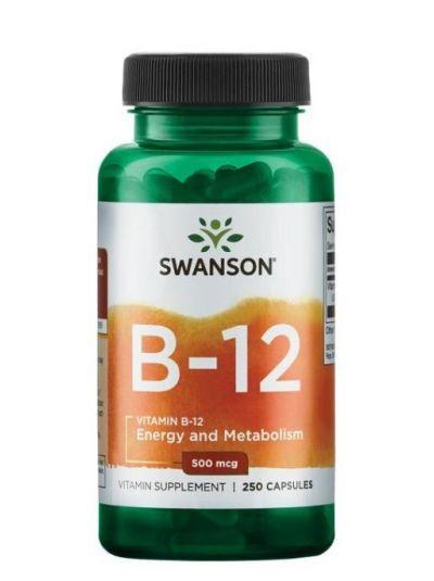 Swanson Vitamin B-12 500mcg 250 Kapseln