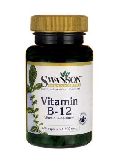 Swanson Vitamin B-12 500mcg 100 vege Kapseln