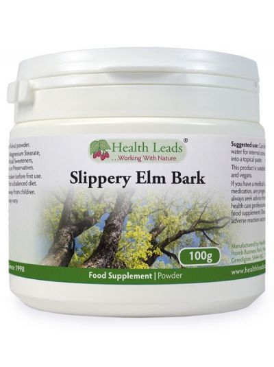 HEALTH LEADS SLIPPERY ELM (ROTULME) PULVER 100G