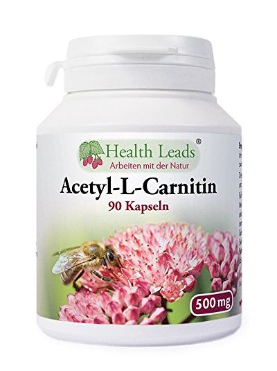 Health Leads Acetyl-L-Carnitin 500mg x 90 Kapseln