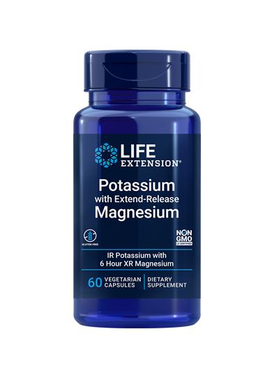 Life Extension Kalium mit Magnesium mit verlängerter Freisetzung 60 Gemüsekappen