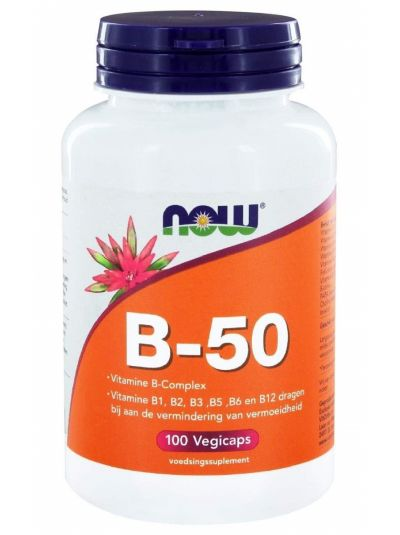Now Foods B-50 Komplex Hochdosiert 100 vegetarische Kapseln