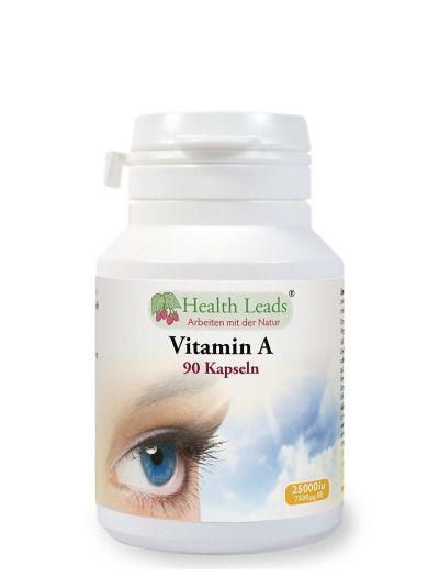 HEALTH LEADS Vitamin A 25 000 iu als Retinolacetat x 90 Kapseln