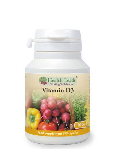 HEALTH LEADS VITAMIN D3 1000 IU HYPOALLERGEN 90 KAPSELN