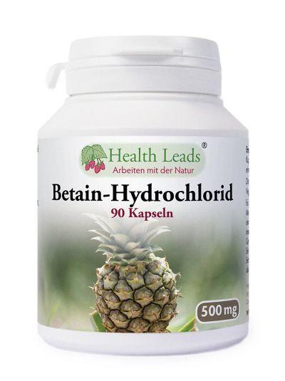 Health Leads Betain Hydrochlorid HCL 500mg x 90 Kapseln