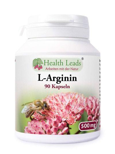 HEalth Leads L-Arginin 500 mg x 90 Kapseln