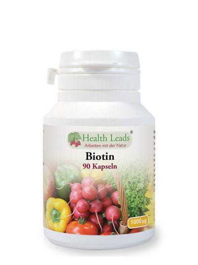 HEALTH LEADS Biotin Vitamin B7 1000 Mcg X 90 Kapseln