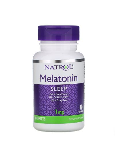 Natrol, Melatonin, 1 mg, 90 Tabletten