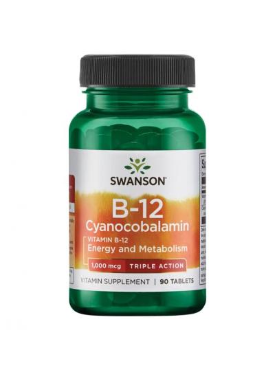 SWANSON VITAMIN B12 CYANOCOBALAMIN DREIFACHE AKTION 1000 MCG 90 TABLETTEN