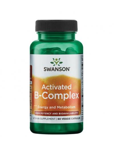 Swanson Ultra-Activated B-Complex - Hohe Wirksamkeit und Bioverfügbarkeit 60 Kapseln