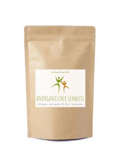 Vitalundfitmit100 Anorganischer Schwefel 99,9 % Ph. Eur. fein gemahlen 500 g