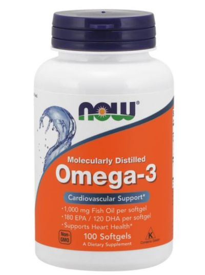 Now Foods Omega-3 100 Softgel-Kapseln