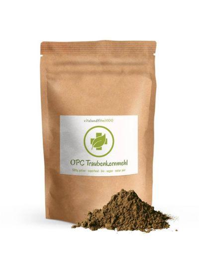 Vitalundfitmit100 Bio OPC Traubenkernmehl 500 g