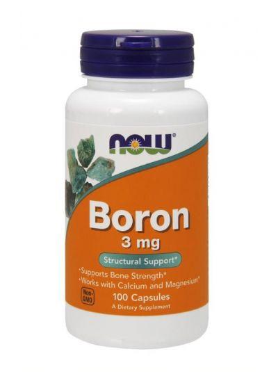 Now Foods Bor 3 mg 100 Kapseln
