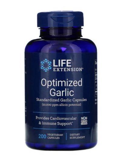 Life Extension Optimierter Knoblauch, standardisierte Knoblauchkapseln, 200 vegetarische Kapseln
