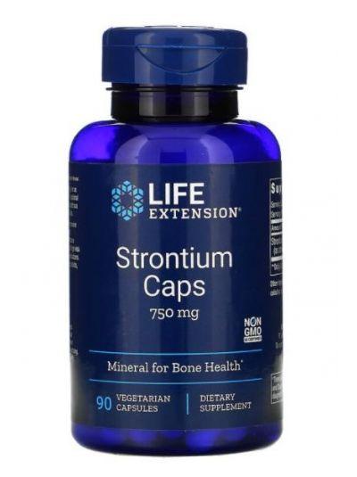 Life Extension Strontium Kapseln 750 mg 90 Kapseln