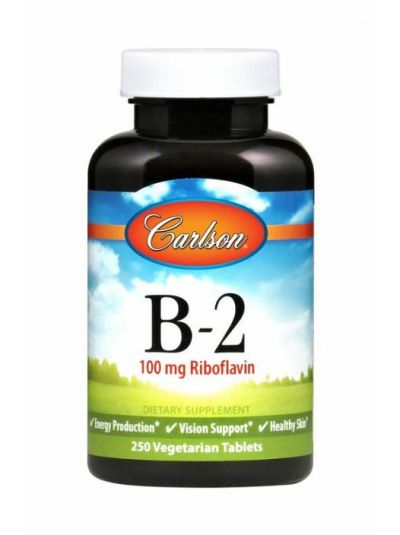 Carlson Labs Vitamin B-2 (Riboflavin) 100 mg 100 Tabletten