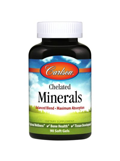 Carlson Labs Chelatierte Mineralien - Maximale Absorption - 90 Softgels