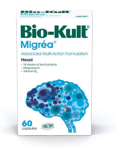 Bio-Kult Migréa Advanced Multi-Strain-Bakterienformulierung m. Mg und Vitamin B6, 60 Kapseln