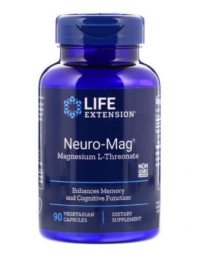 Life Extension NEURO-MAG MAGNESIUM L-THREONATE 90 Kapseln