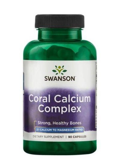 Swanson Koralle Calcium Komplex 90 Kapseln