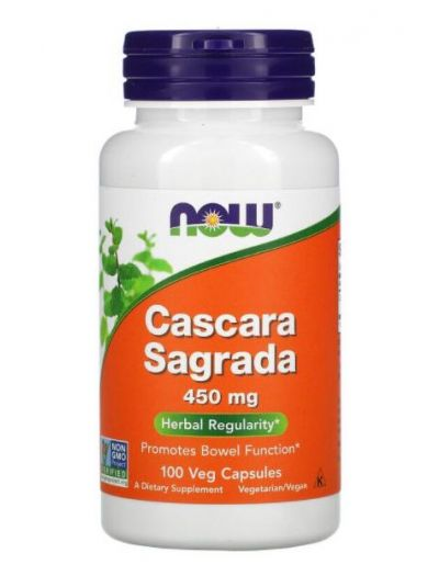 Now Foods, Cascara Sagrada, 450 mg, 100 Vegetabilische Kapseln