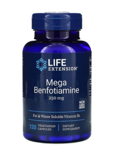 Life Extension Mega Benfotiamin, 250 mg, 120 vegetarische Kapseln