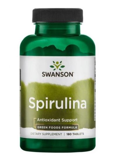 Swanson  Spirulina 500mg - 180 tablets