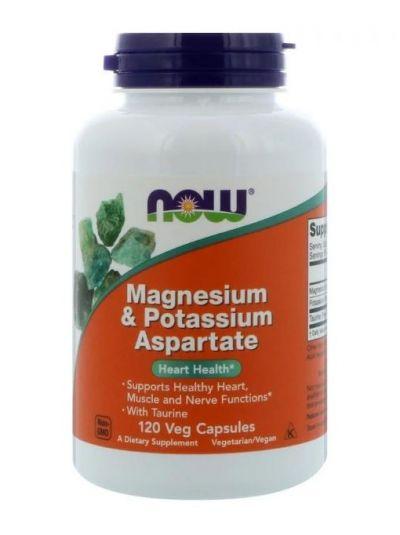 Now Foods Magnesium- und Kaliumaspartat mit Taurin 120 Kapseln