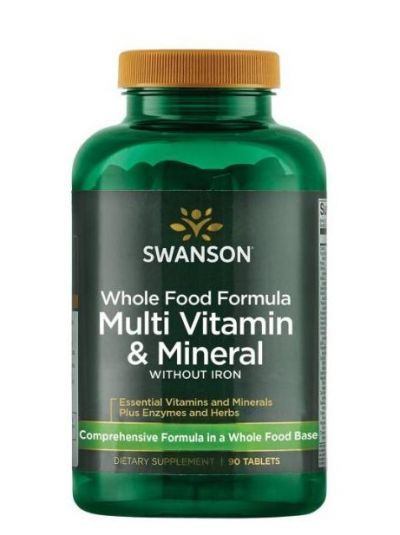 Swanson Whole Foods Formula Multi und Mineral ohne Eisen 90 Tabletten