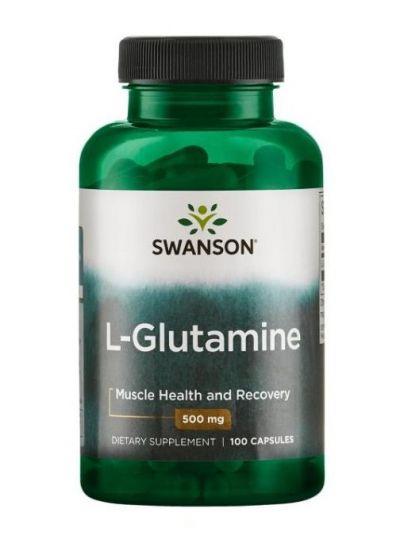 Swanson L-Glutamin 500 mg 100 Kapseln