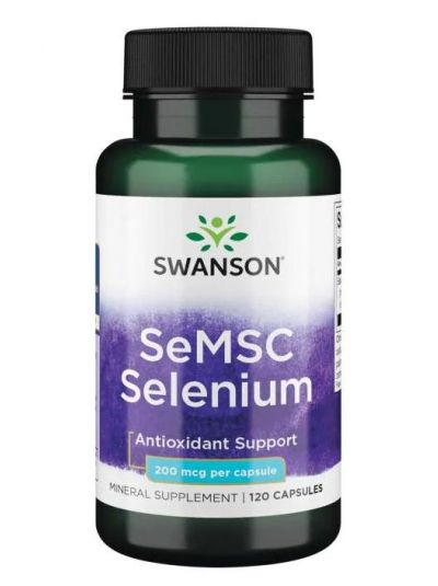 Swanson SELEN AUS SE-METHYL L-SELENOCYSTEIN (SeMSC) 200 MCG 120 VEGETARISCHE KAPSELN