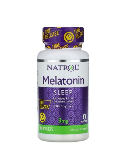 Natrol, MELATONIN, ZEITFREIGABE, 3 MG, 100 TABLETTEN